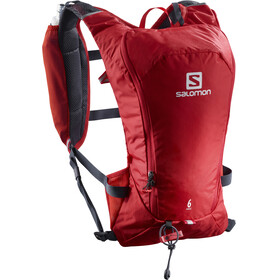 Salomon Agile 6 Backpack Set Barbados Cherry/Graphite